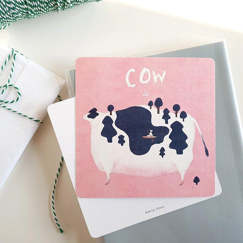 明信片  我有一隻溫柔的COW山