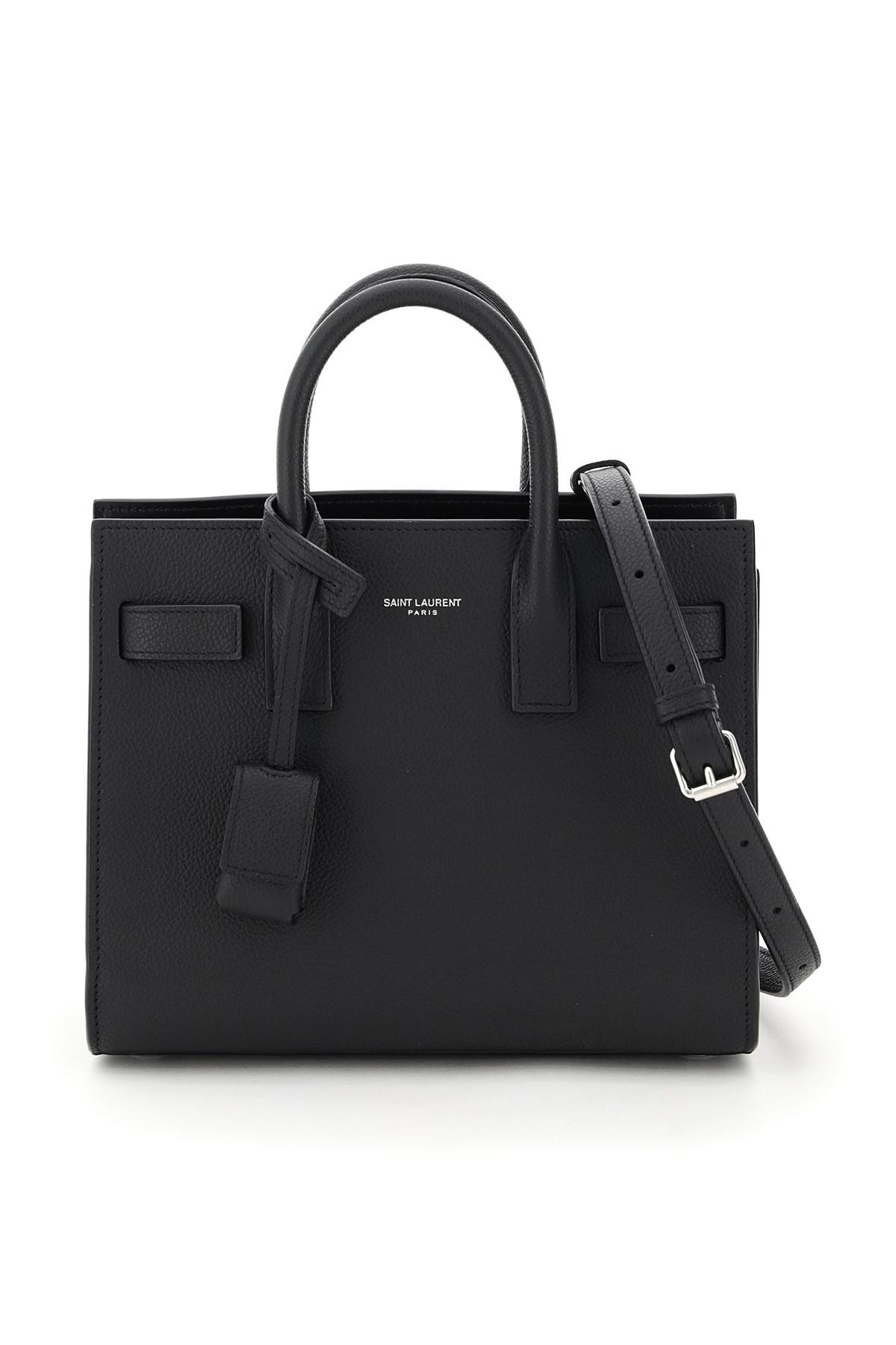 SAINT LAURENT NANO SAC DE JOUR BAG OS Black Leather