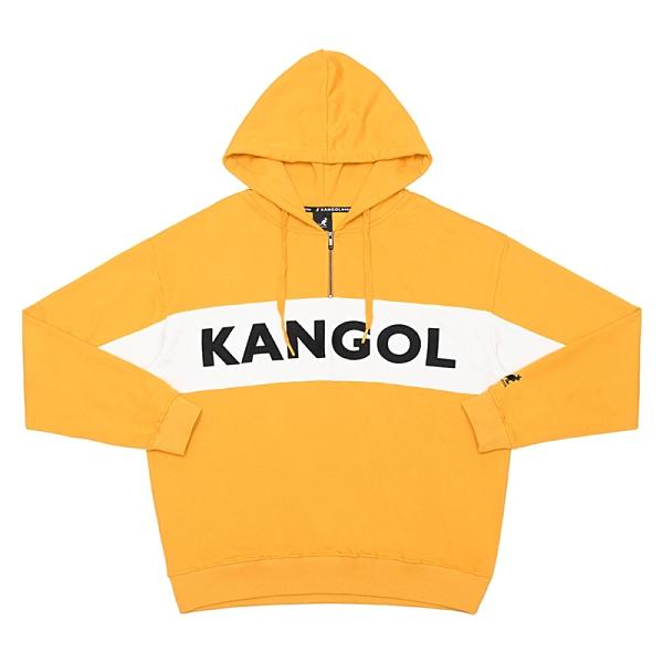 KANGOL 運動帽T 長袖 黃/白 撞色 字母LOGO 6055106862 noE79