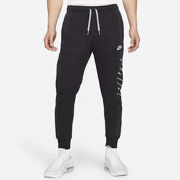 Nike Sportswear 男裝 長褲 錐形褲 棉質 休閒 街頭 縮口 印花 黑【運動世界】CZ9943-010