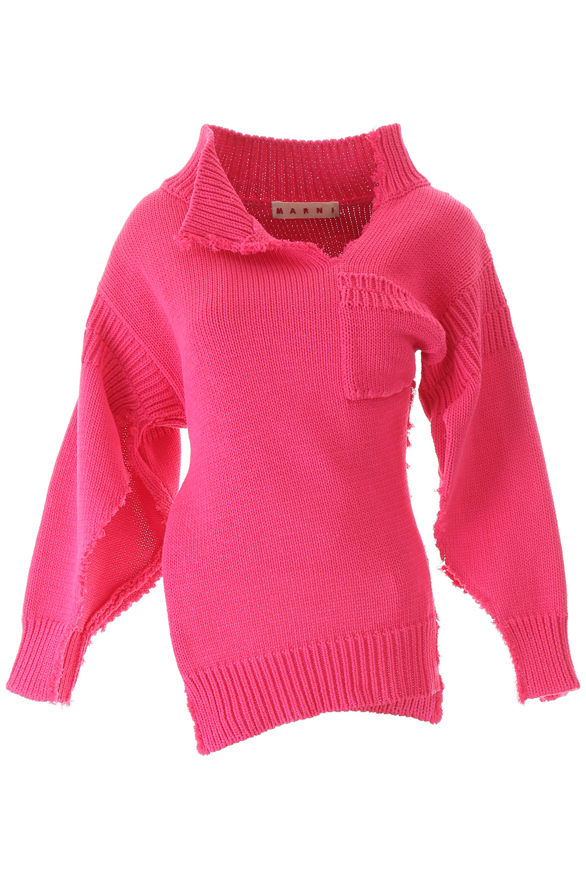 MARNI COTTON SWEATER 40 Fuchsia, Pink Cotton