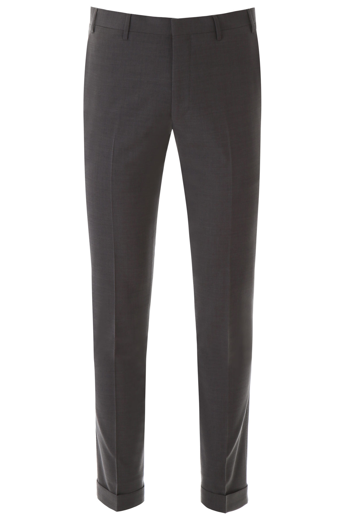CC COLLECTION CORNELIANI CLASSIC WOOL TROUSERS 54 Grey Wool