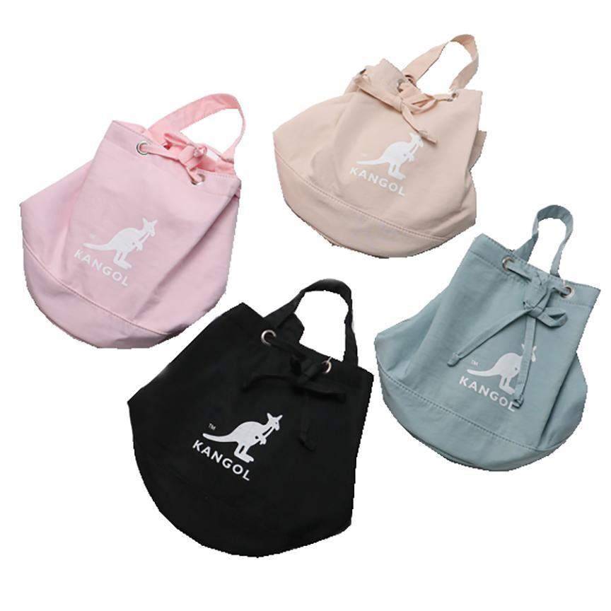 kangol 水桶包小容量束口型主袋簡易提袋固定型長背帶進口防水防尼龍布手提肩背斜側