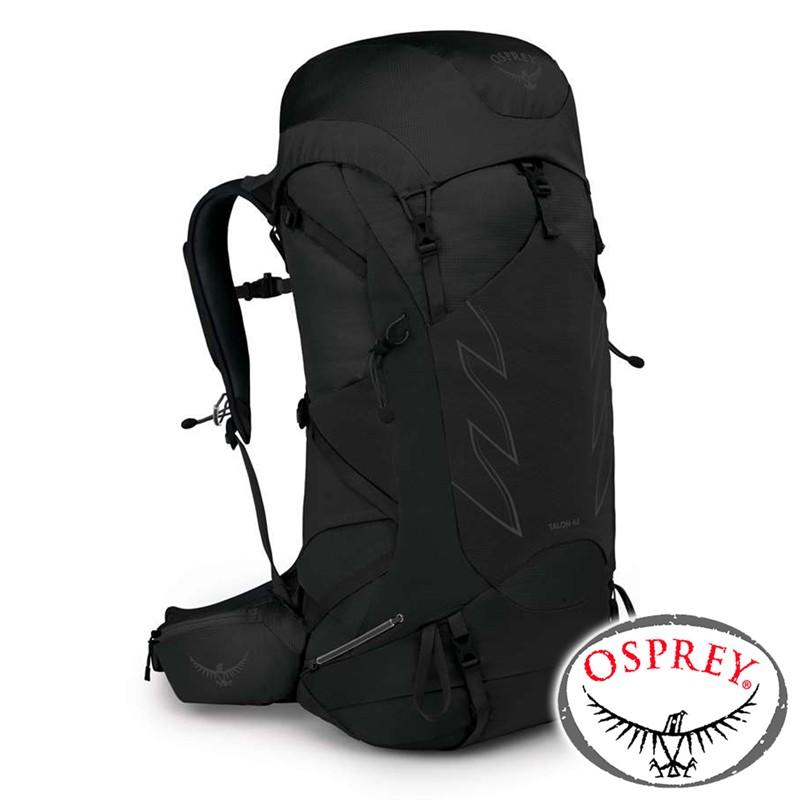 【美國 OSPREY】 TALON 44透氣輕量登山健行背包42L S/M『消光黑』10002577 背包.健行.多口袋