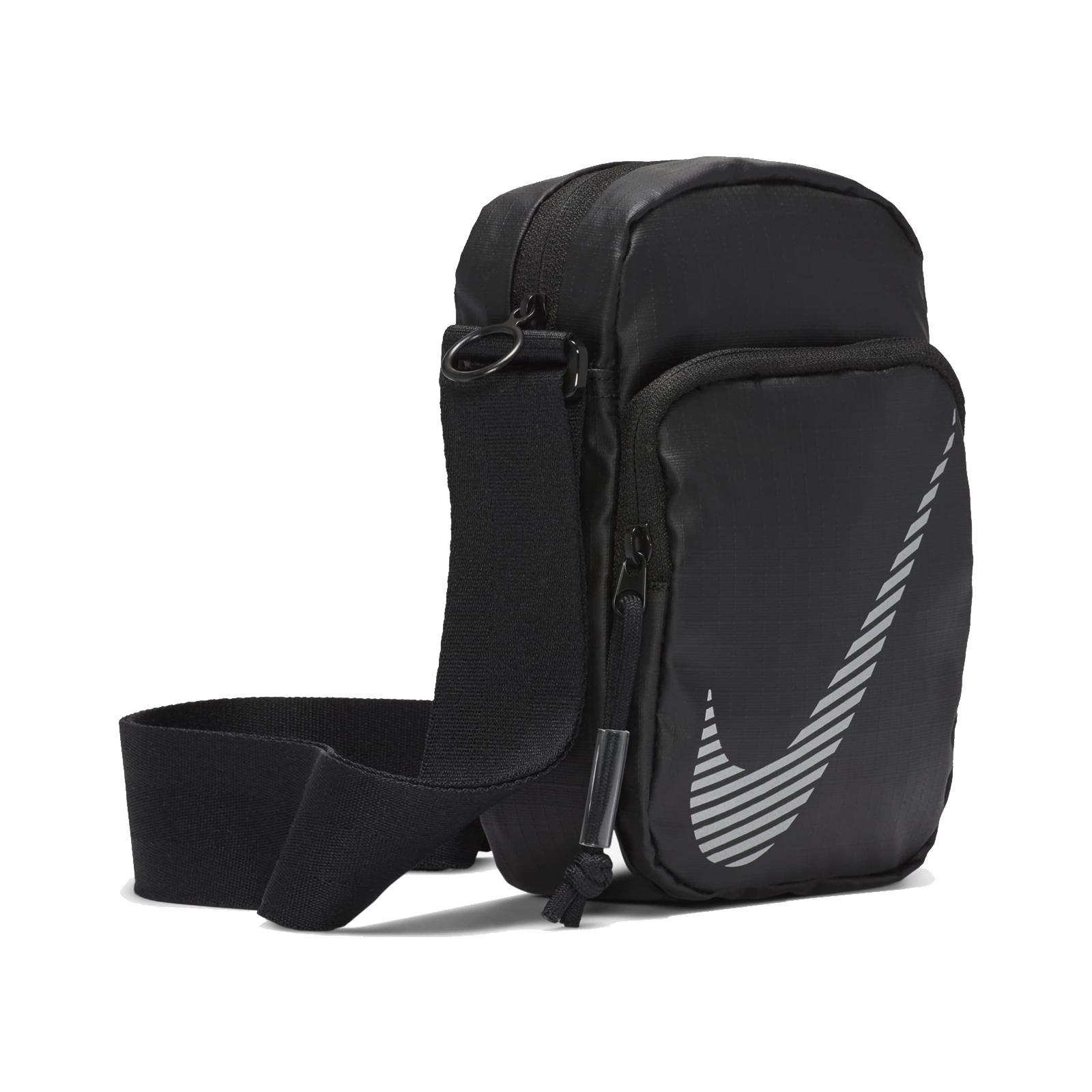 Nike 斜背包 NSW Heritage Winterized 肩背包 黑 銀 男女款【ACS】 DB4696-010