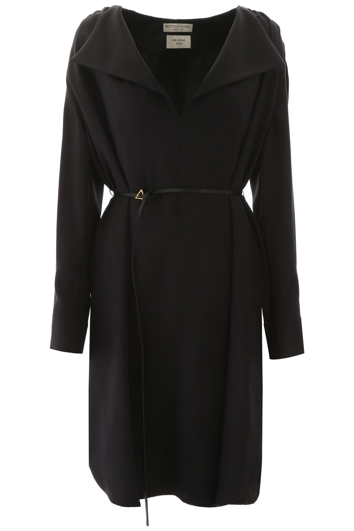 BOTTEGA VENETA TUNIC DRESS 40 Black Silk