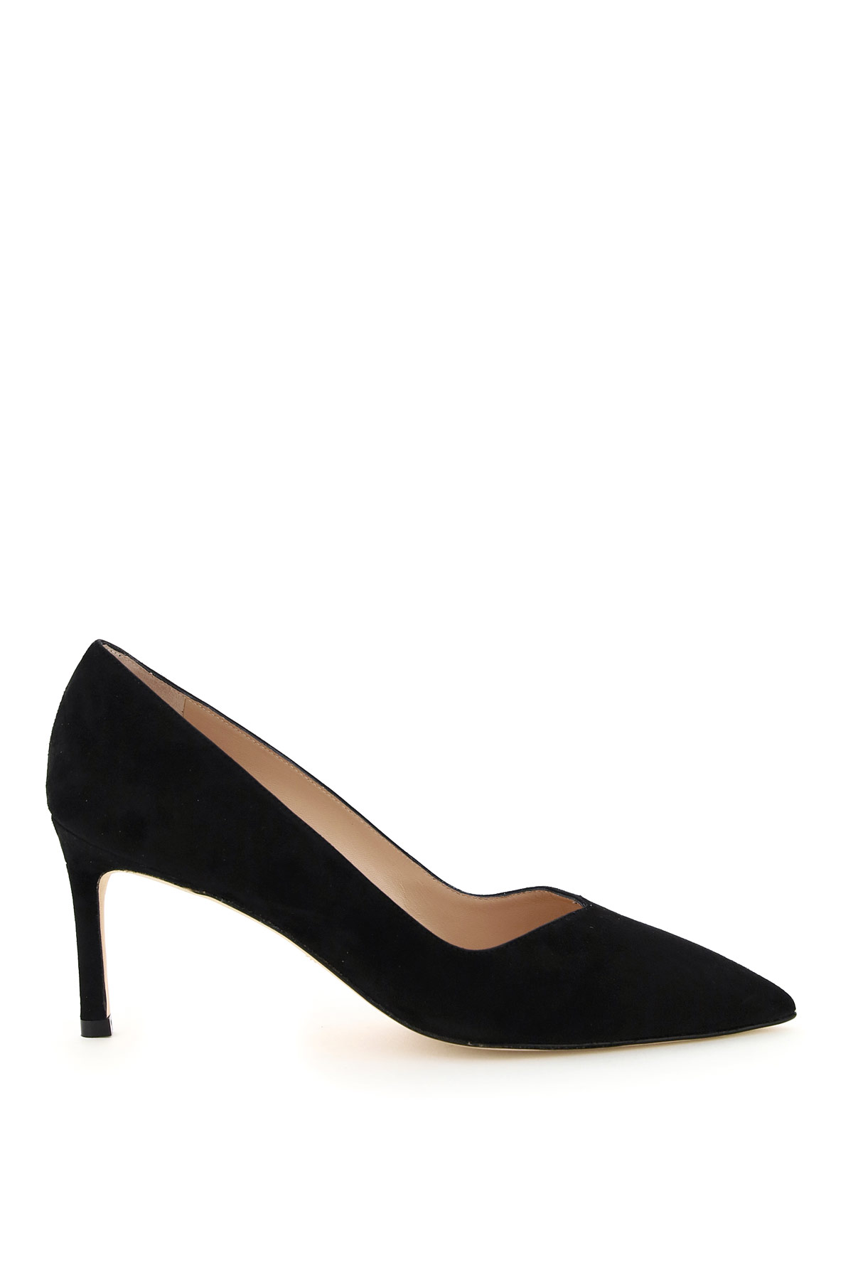 STUART WEITZMAN ANNY SUEDE PUMPS 70 40 Black Leather