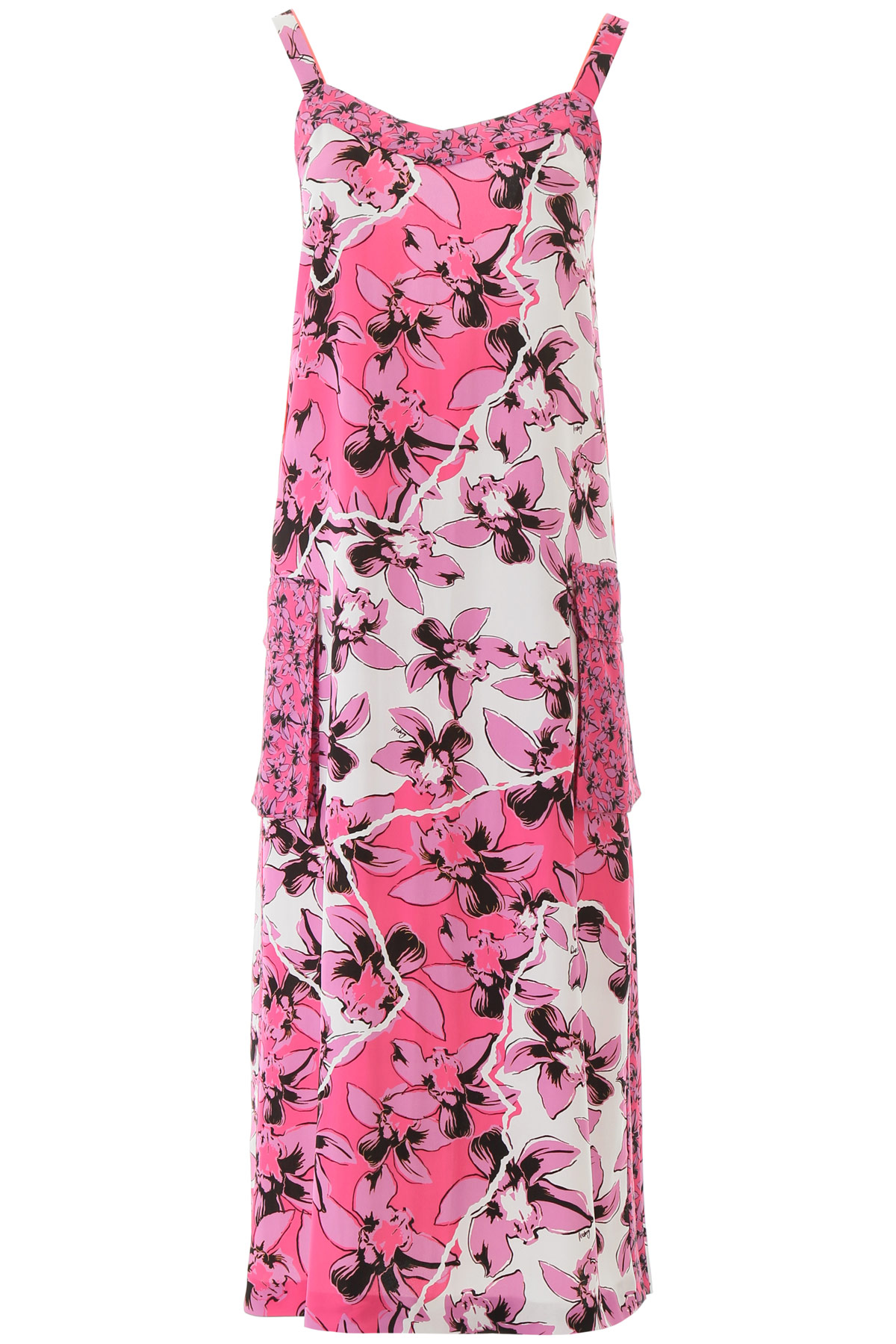 ICEBERG FLORAL DRESS 40 Pink, White, Black