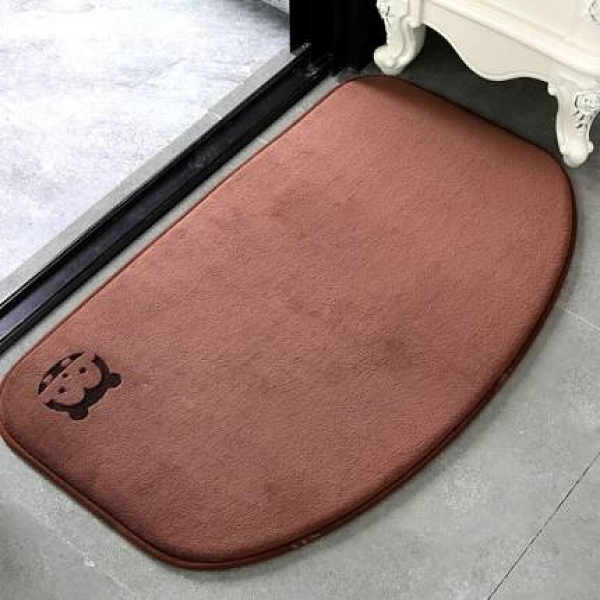 地墊 衛生間地墊浴室門口吸水腳墊廁所防滑地毯門墊進門墊子洗手間半圓