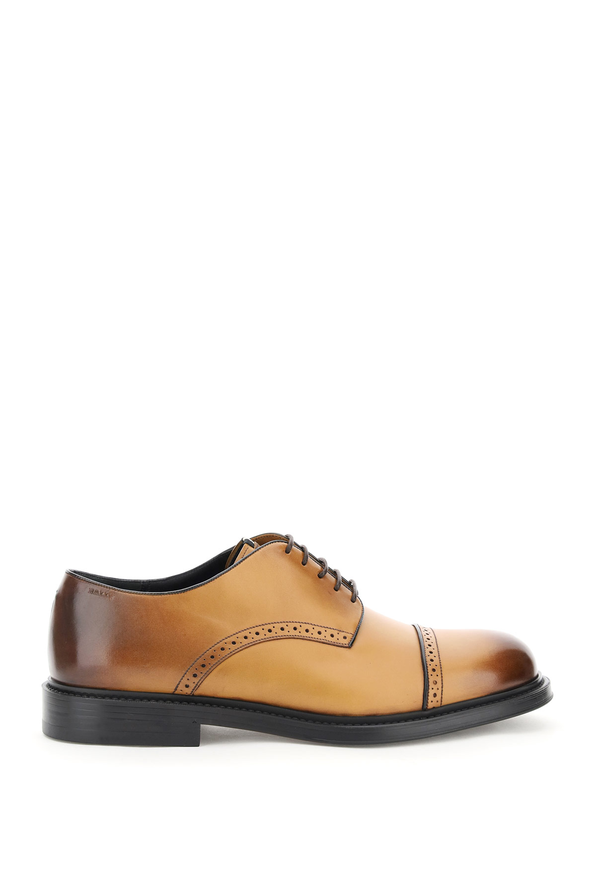 BALLY NIDAL LACE-UP SHOES 5 Brown, Beige Leather