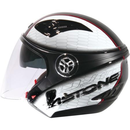 ASTONE DJ10C-OO11 黑白 內墨鏡 透氣 吸濕排汗 全可拆洗 3/4罩 安全帽《淘帽屋》