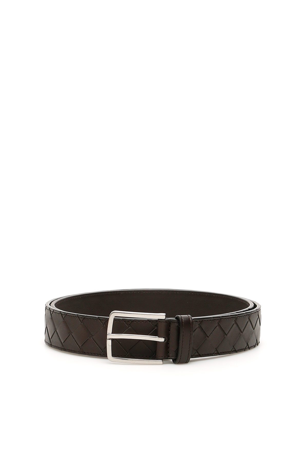 BOTTEGA VENETA INTRECCIATO 15 BELT 105 Brown Leather