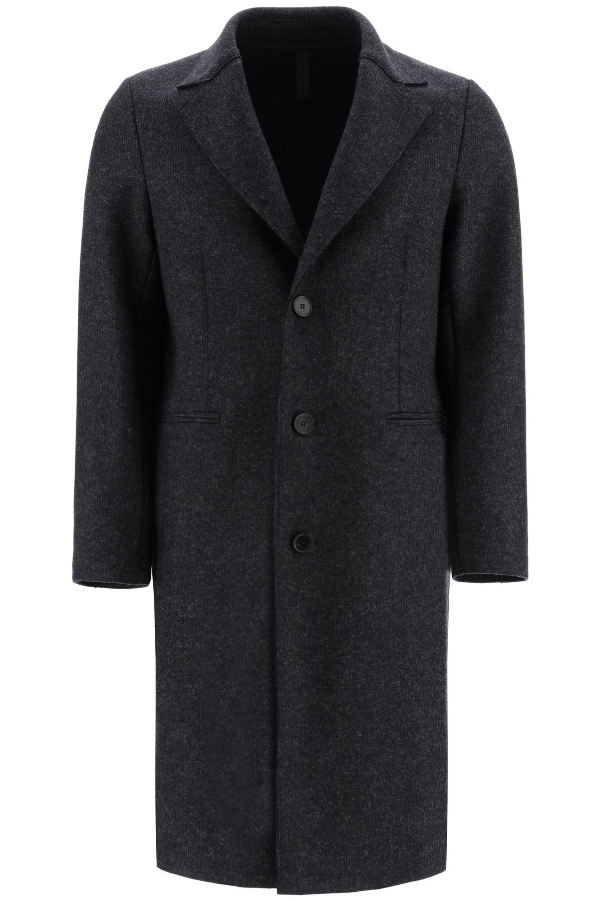 HARRIS WHARF LONDON REGULAR WOOL COAT 50 Grey Wool