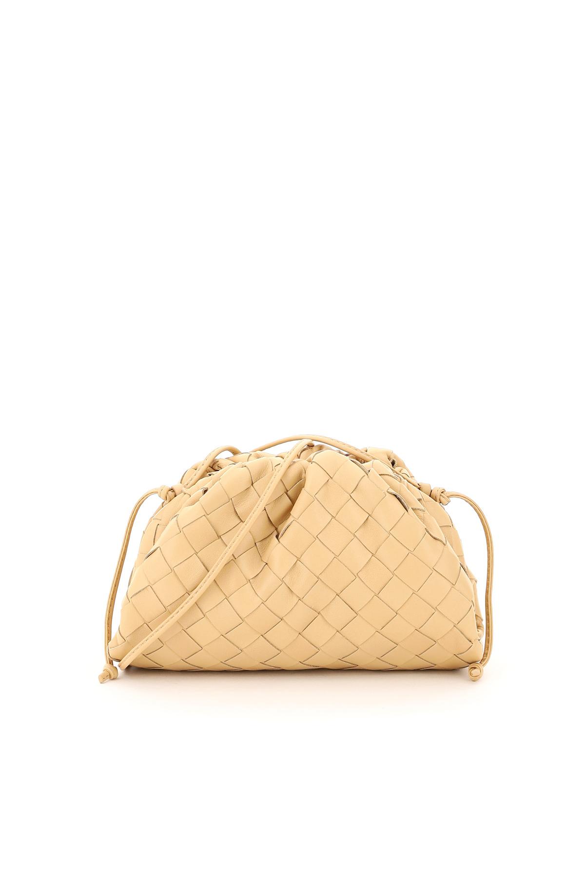 BOTTEGA VENETA THE POUCH 20 OS Beige Leather