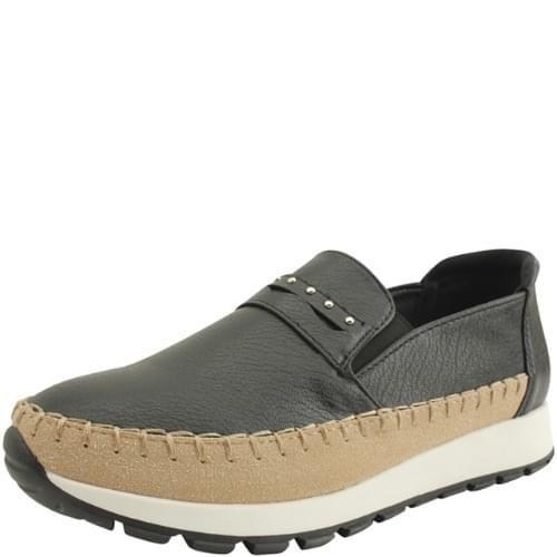 韓國空運 - Cowhide Stud Height Sneakers Black 球鞋/布鞋