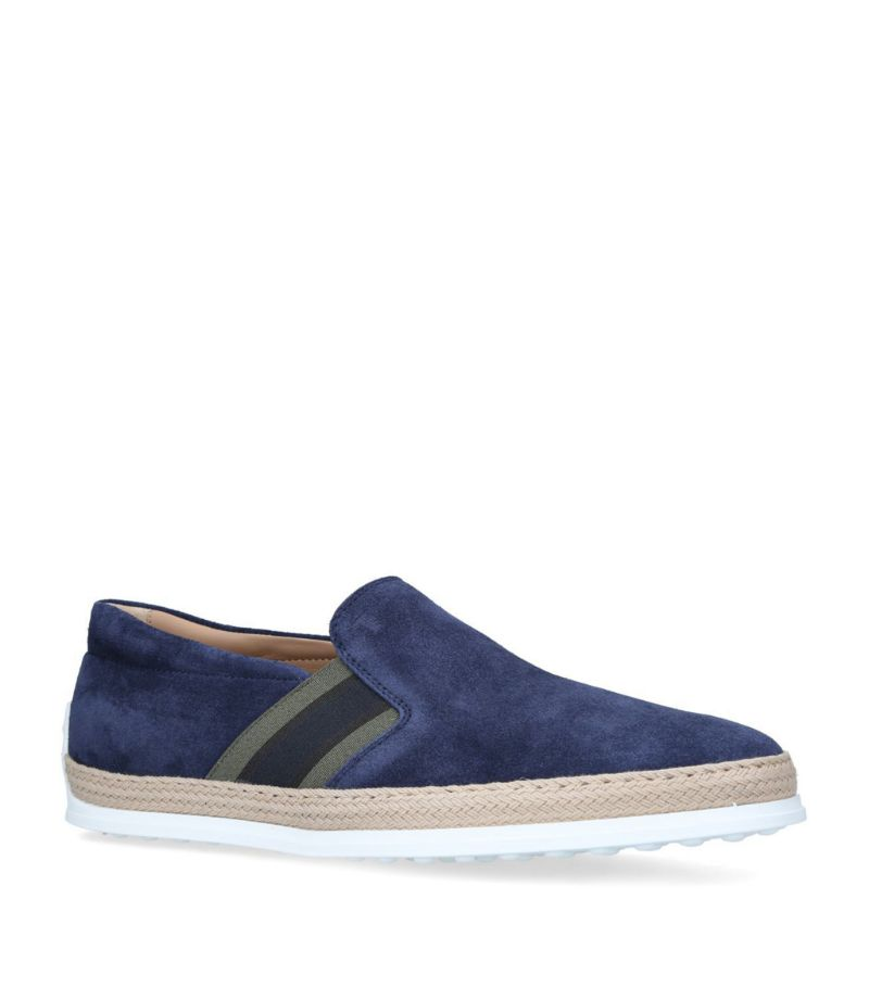 Tod'S Suede Raffia Skate Shoes