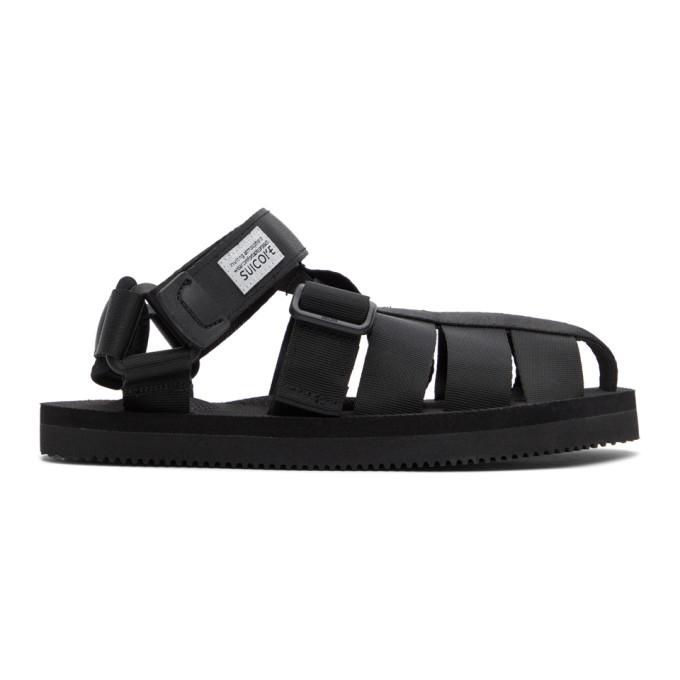 Suicoke 黑色 SHACO 凉鞋