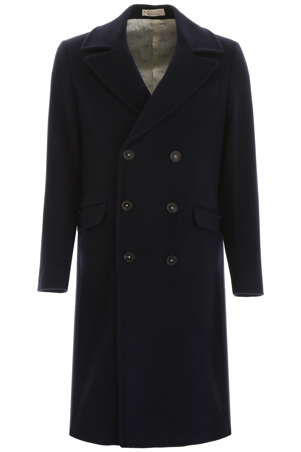 MASSIMO ALBA ALFA20 COAT 50 Blue Wool