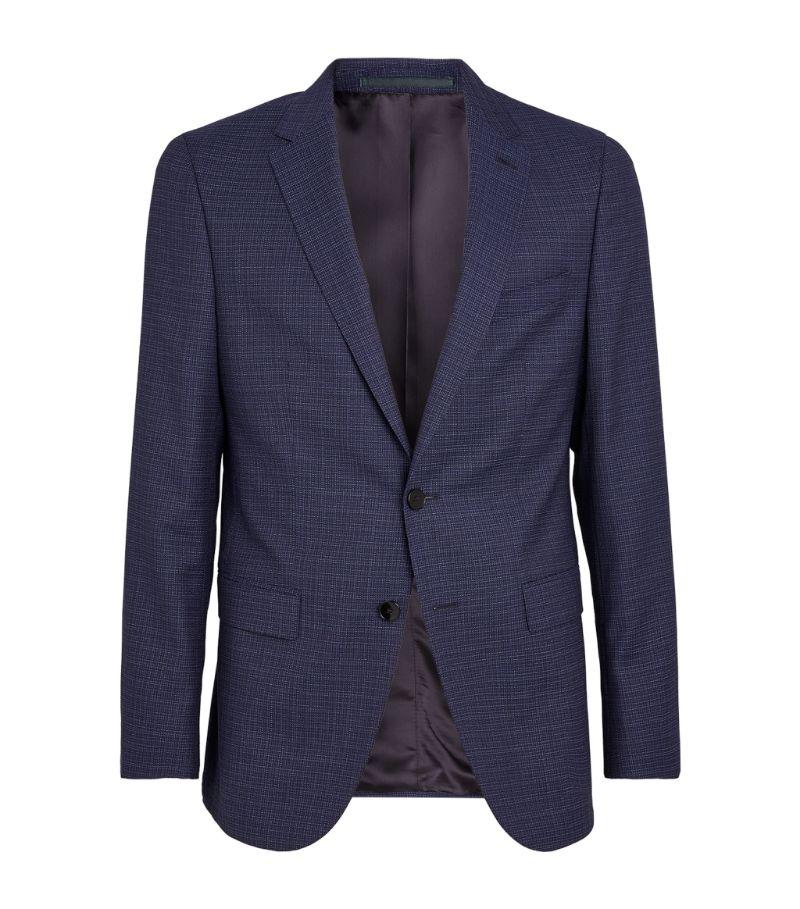 Boss Wool Check Tailored Jacket