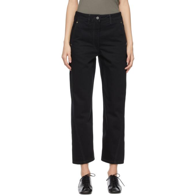 Lemaire 黑色扭缝牛仔裤