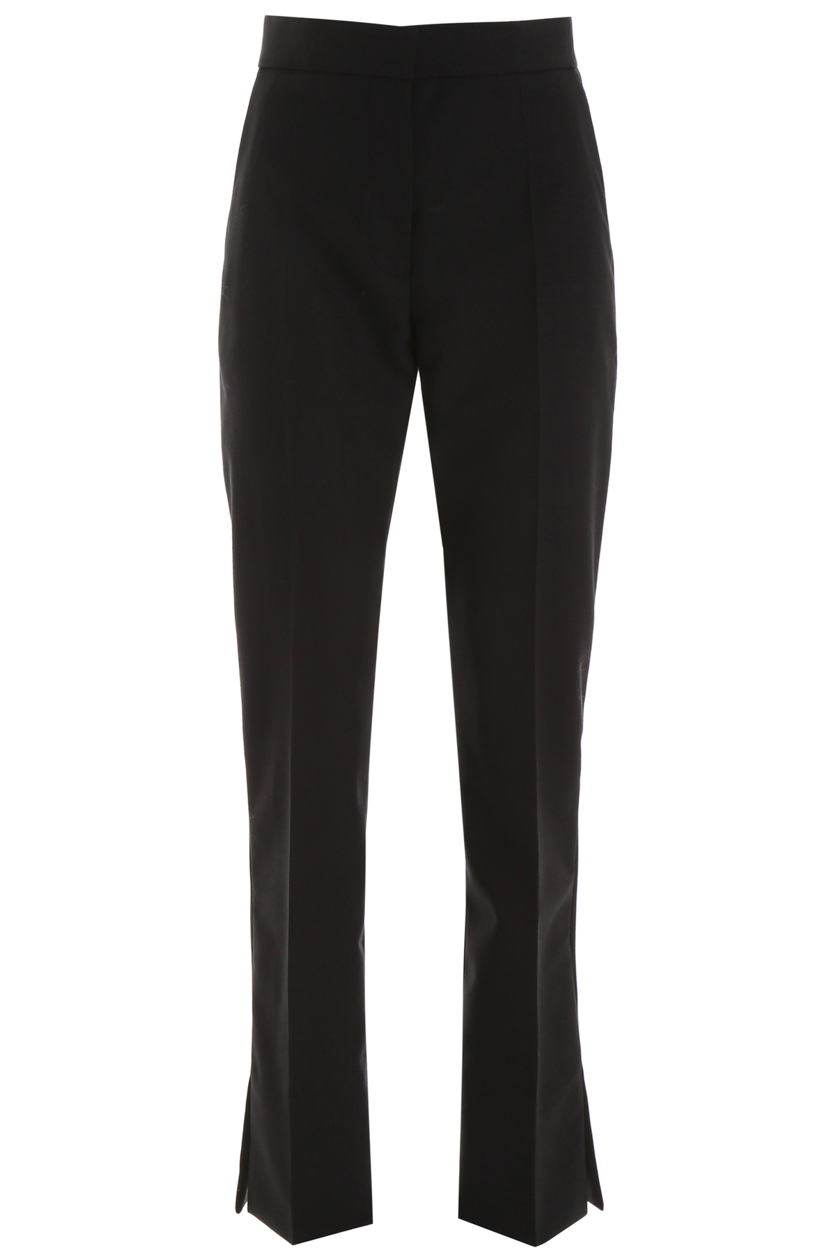 BURBERRY HARBOROUGH TROUSERS 8 Black Wool