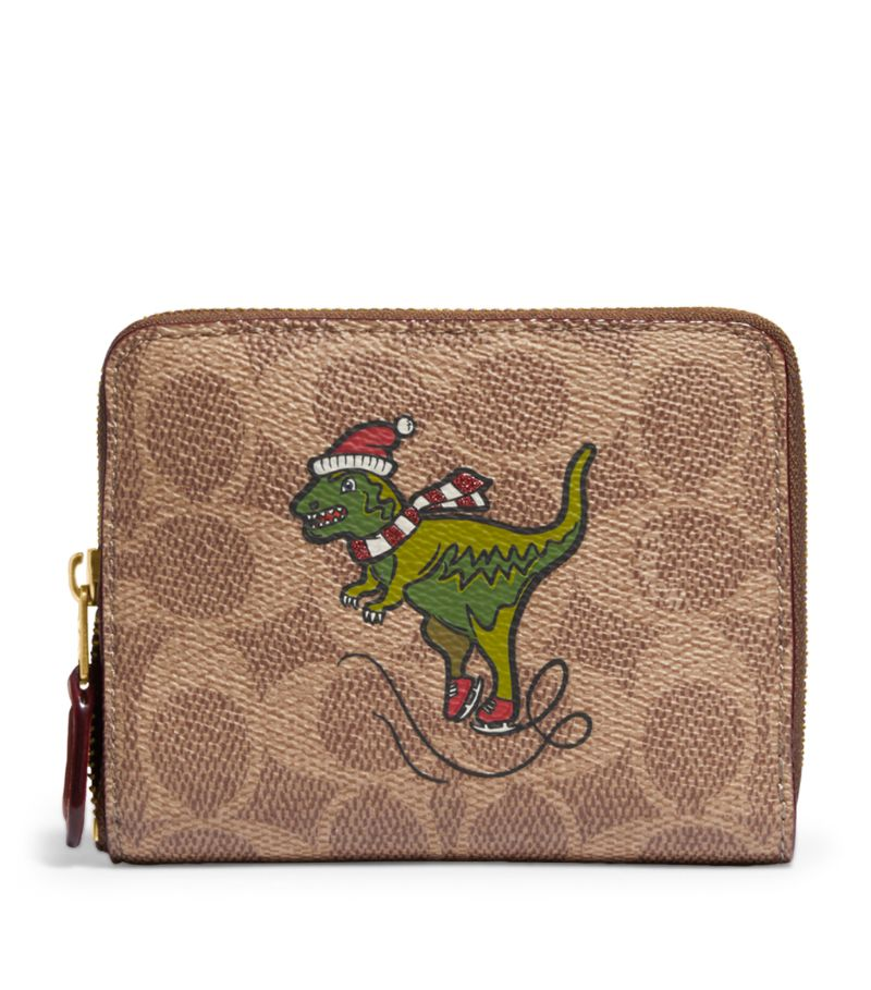 Coach Signature Canvas Rexy Zip-Around Wallet