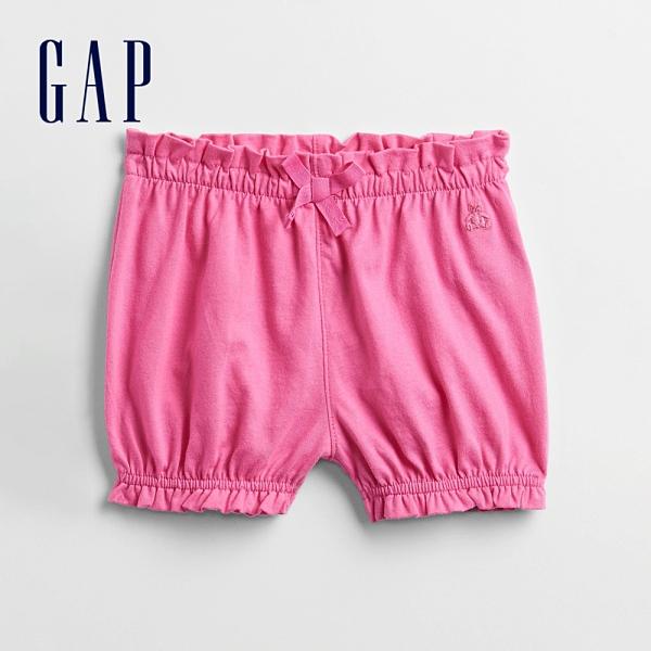 Gap嬰兒 布萊納系列 俏皮荷葉邊鬆緊短褲 834863-粉紅色