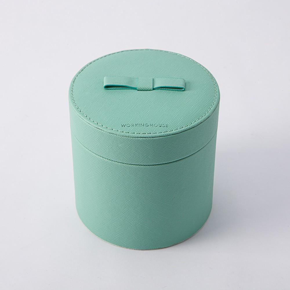 【生活工場】Green Lake雙層皮革飾品收納圓盒
