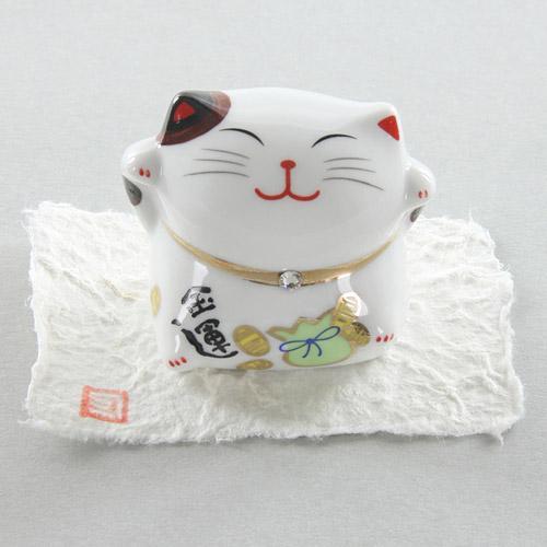 日本【施華洛世奇水晶】色繪福貓-金運【現貨】