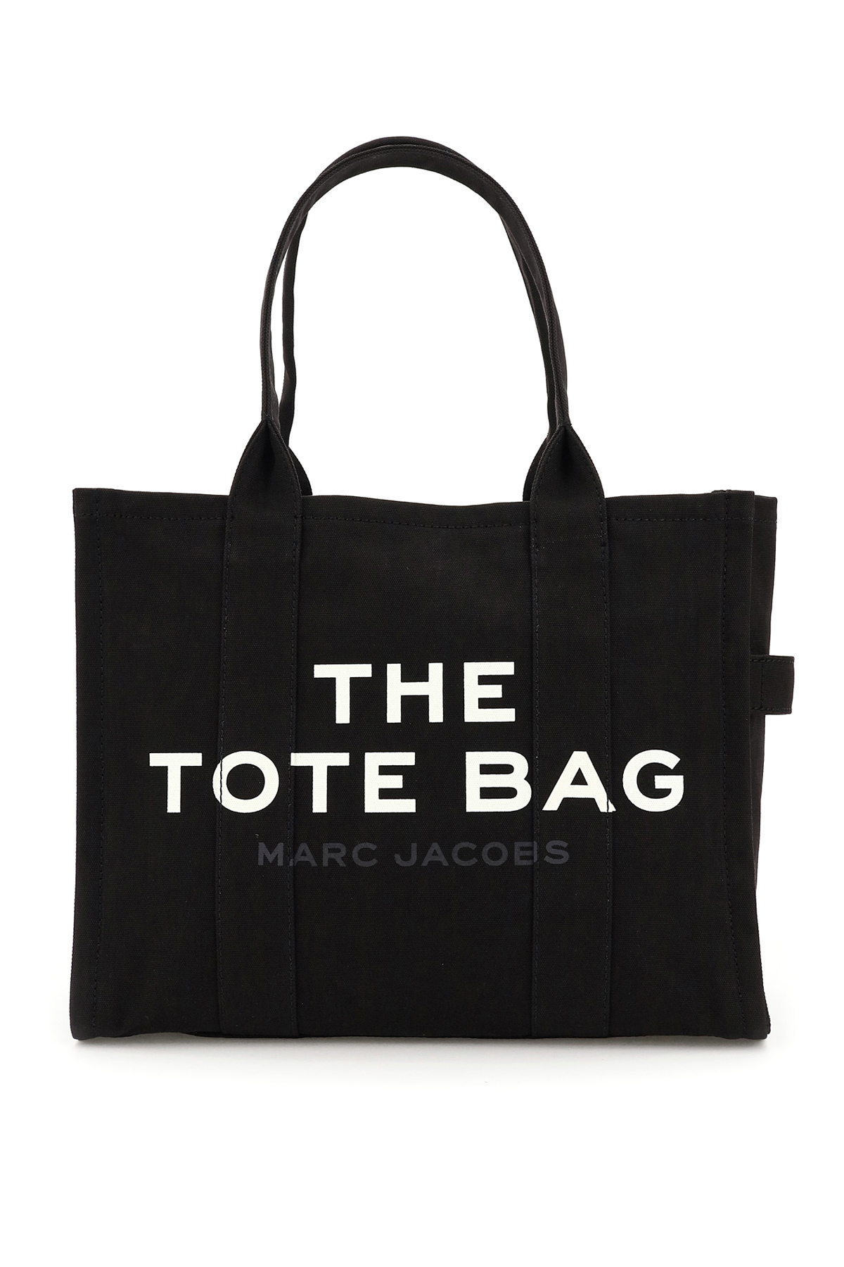MARC JACOBS (THE) THE LARGE TRAVELER TOTE BAG OS Black, White Cotton