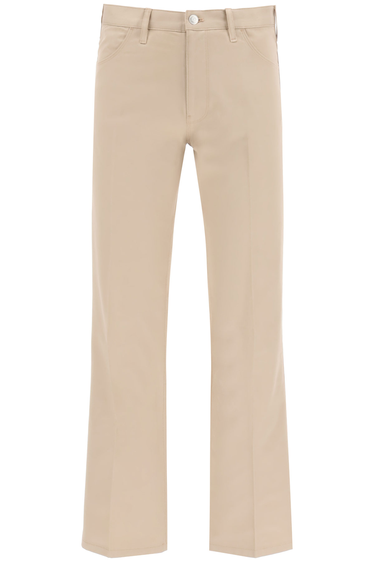 TOMMY HILFIGER COLLECTION TROUSERS WITH EMBROIDERED ARCHIVE EMBROIDERY 30 Beige Cotton