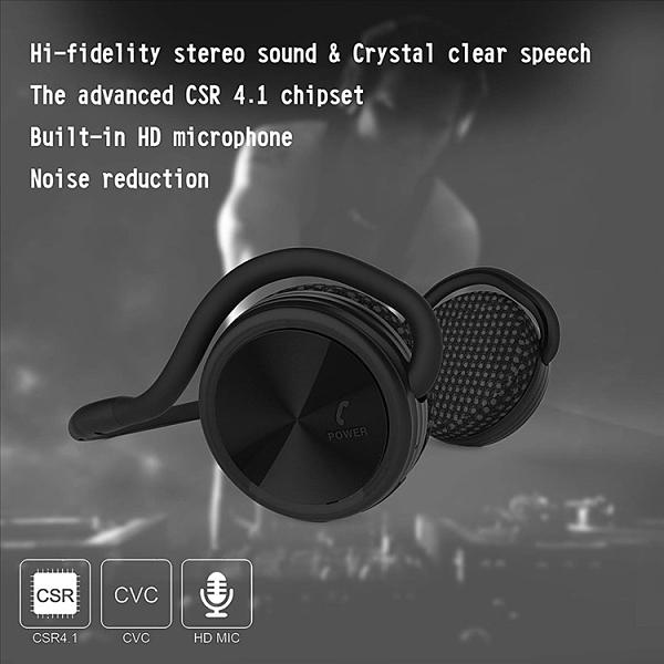 [強強滾]美國Besign 藍牙耳機 藍芽耳機 後掛無線 防水防汗 運動耳機