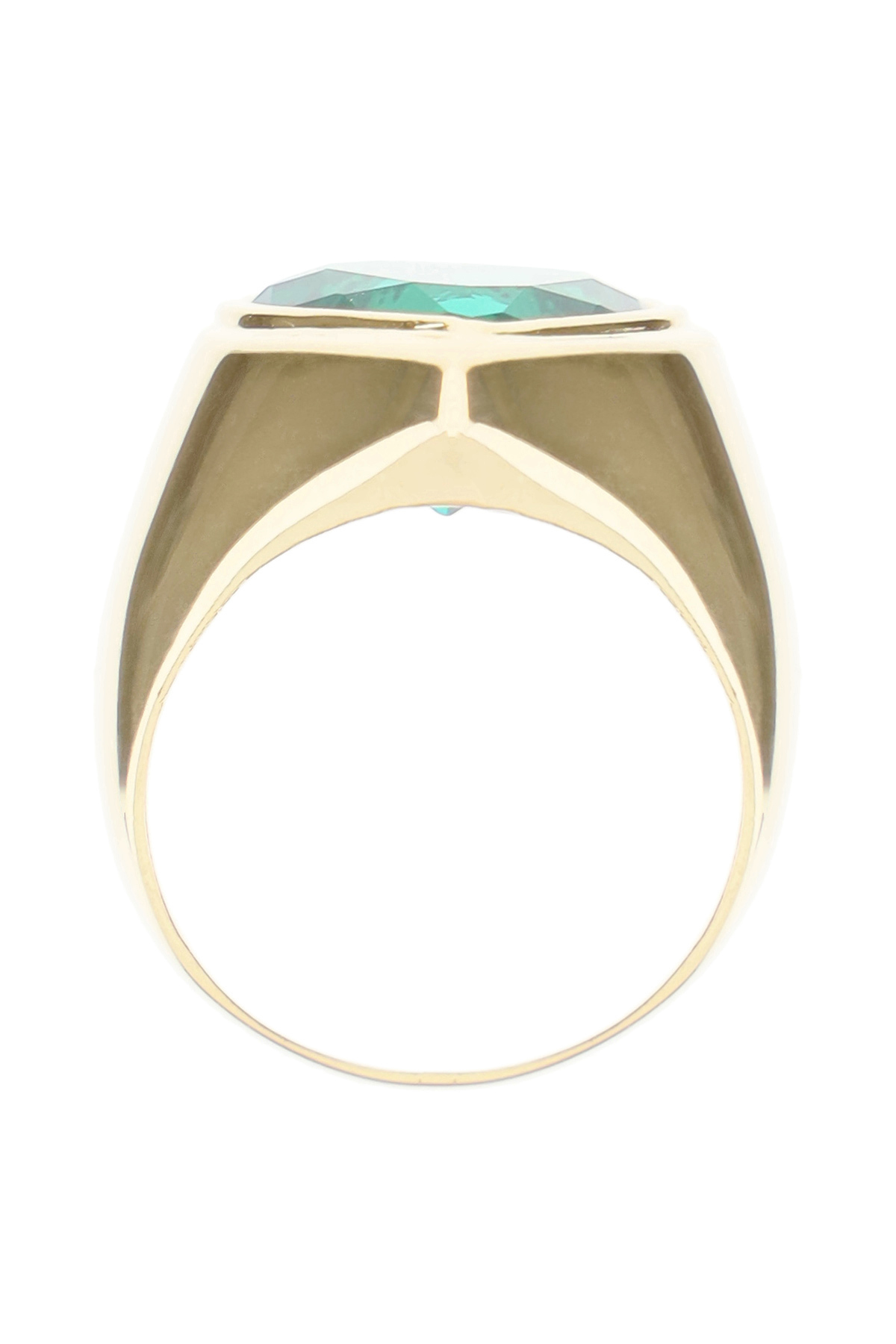 TIMELESS PEARLY CRYSTAL HEART RING 52 Gold, Green
