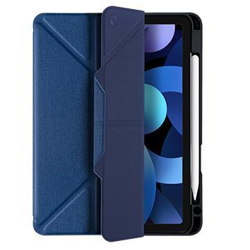 JTLEGEND iPad Air 10.9吋筆槽磁扣皮套-藍(AR10.9槽磁扣藍)
