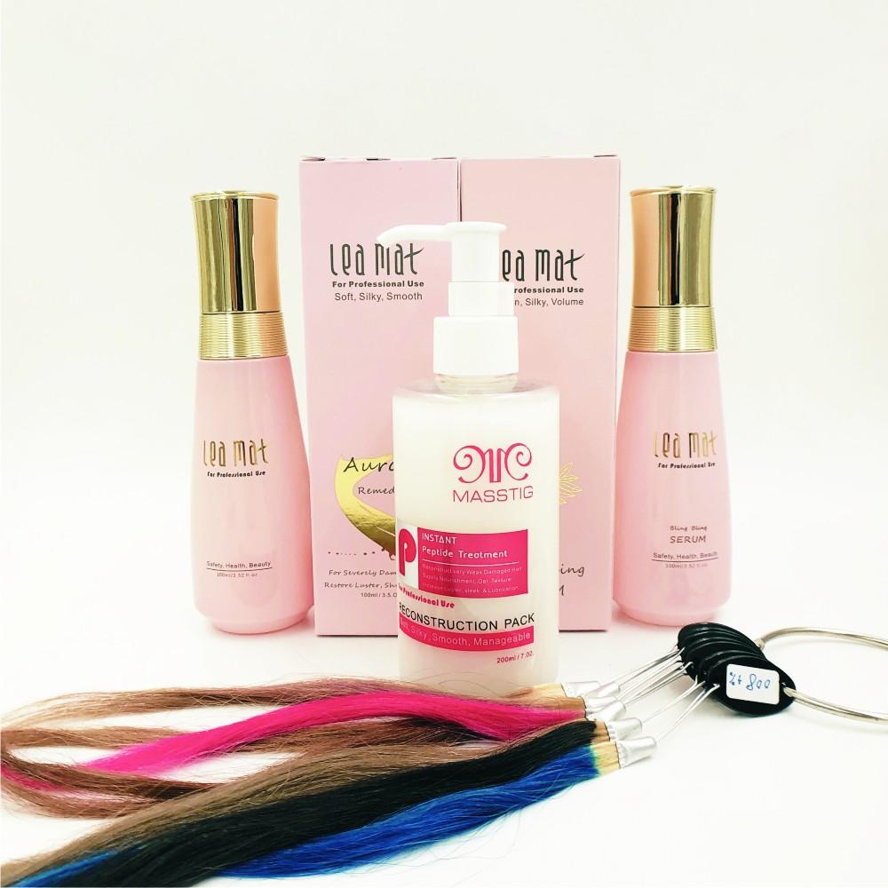 【leamat】漂染後易斷爛頭髮專業保養推薦組 /四胜肽+極光+導光
