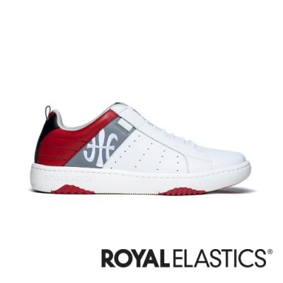 ROYAL ELASTICS ICON2.0 白灰紅真皮潮流運動休閒鞋 (男) 06501-081