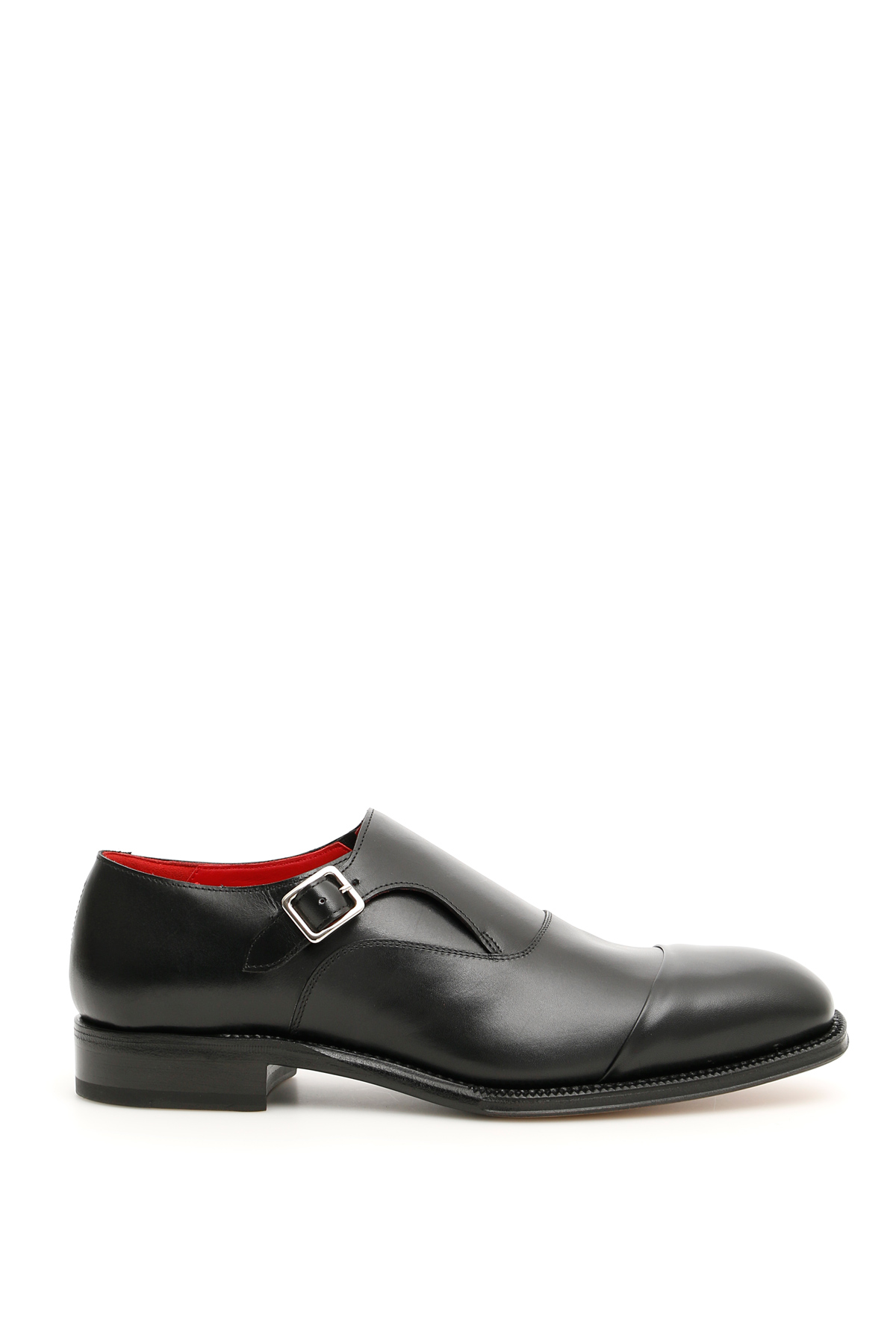 ALEXANDER MCQUEEN MONK SHOES 39 Black Leather