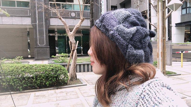 Araignee Design*手作毛帽-編織貝蕾帽*西西莉亞歷山大小姐畫家帽
