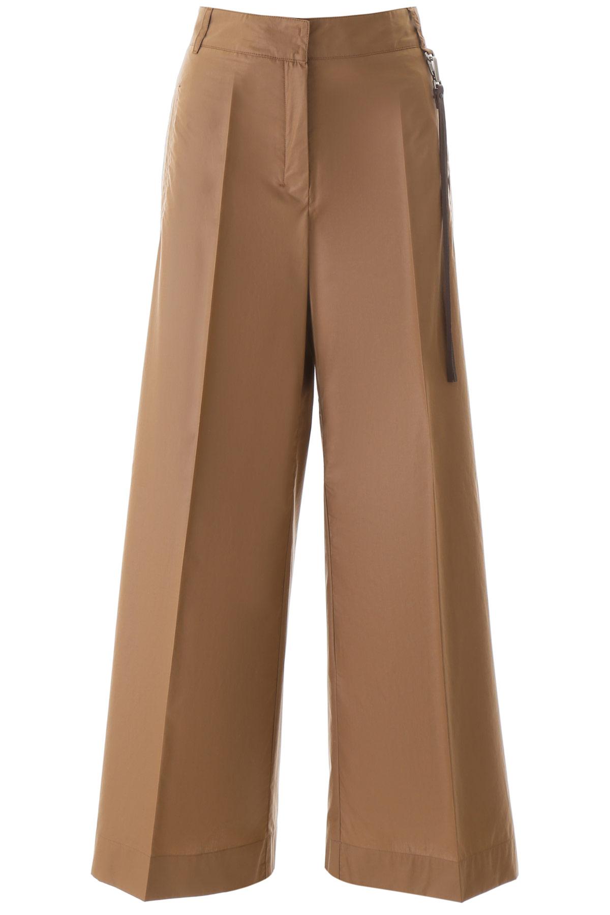 'S MAX MARA WIDE PANTS 44 Brown Cotton
