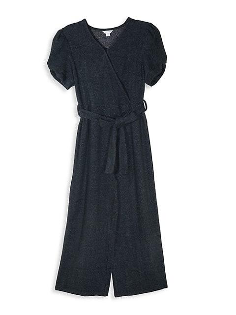 Girl's Hatchi Knit Wrap Jumpsuit