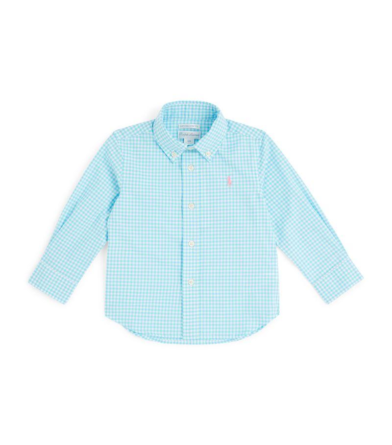 Ralph Lauren Kids Polo Pony Gingham Shirt (6-24 Months)