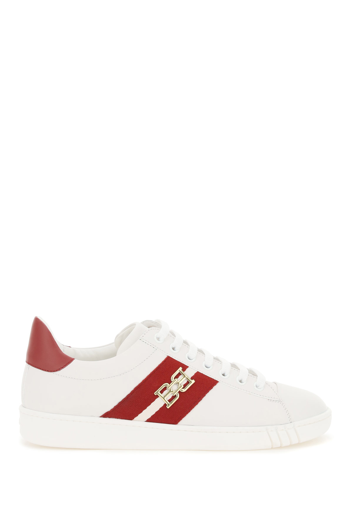BALLY VIKY SNEAKERS 38 White, Red Leather