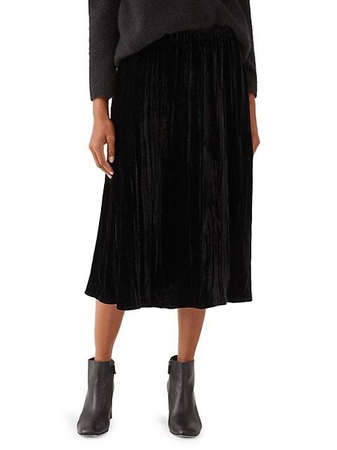Mid-Length A-Line Skirt
