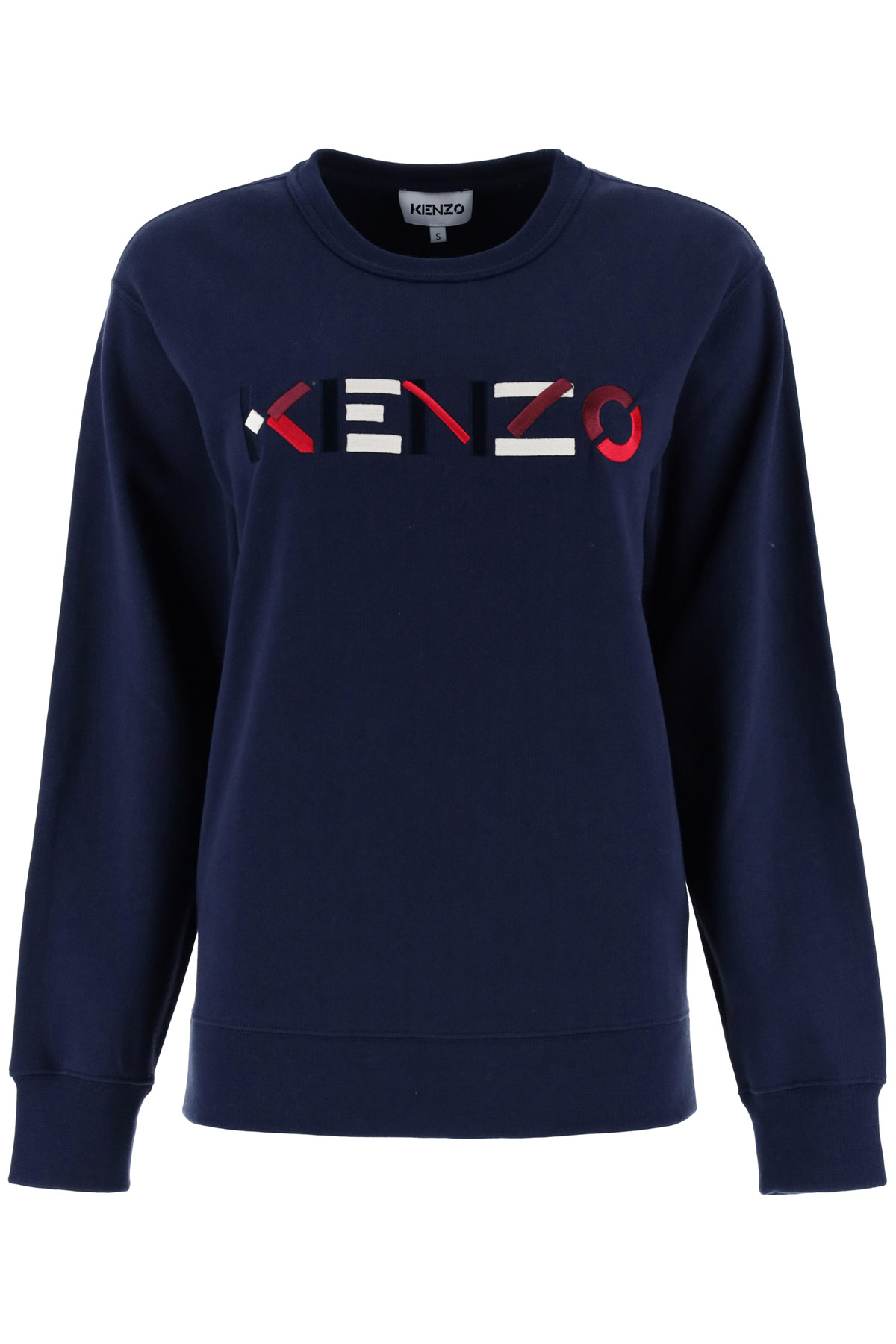 KENZO SWEATSHIRT WITH LOGO EMBROIDERY L Blue Cotton