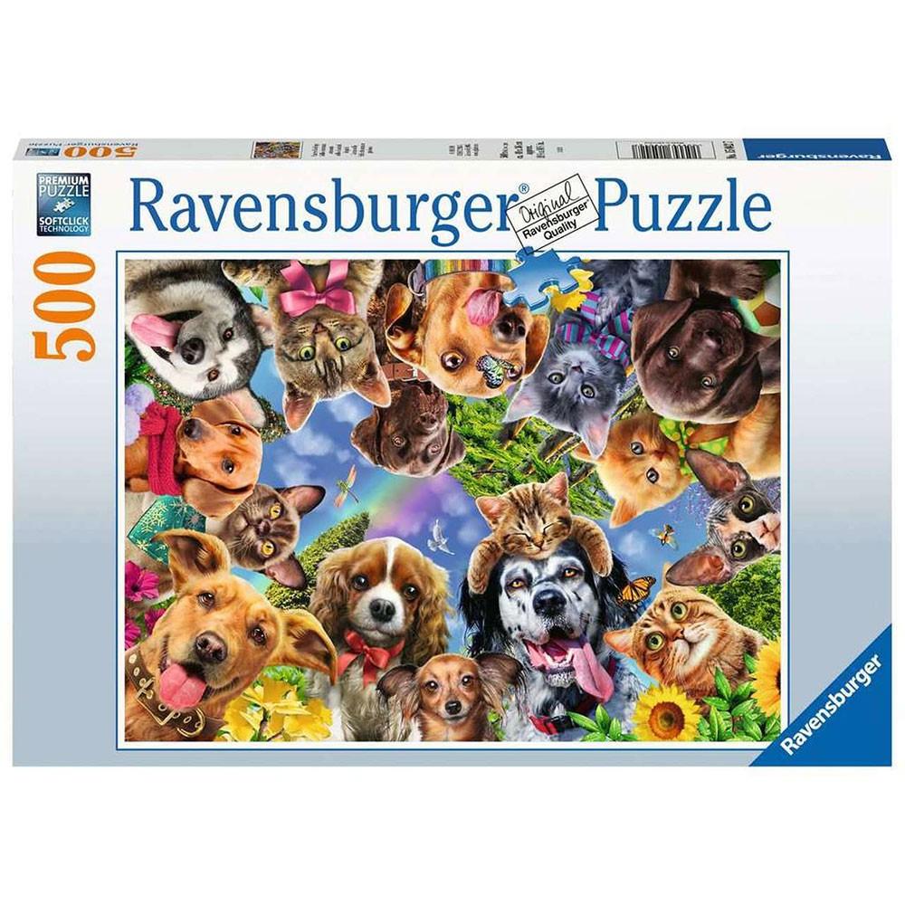 德國Ravensburger維寶拼圖 動物自拍 (500片)