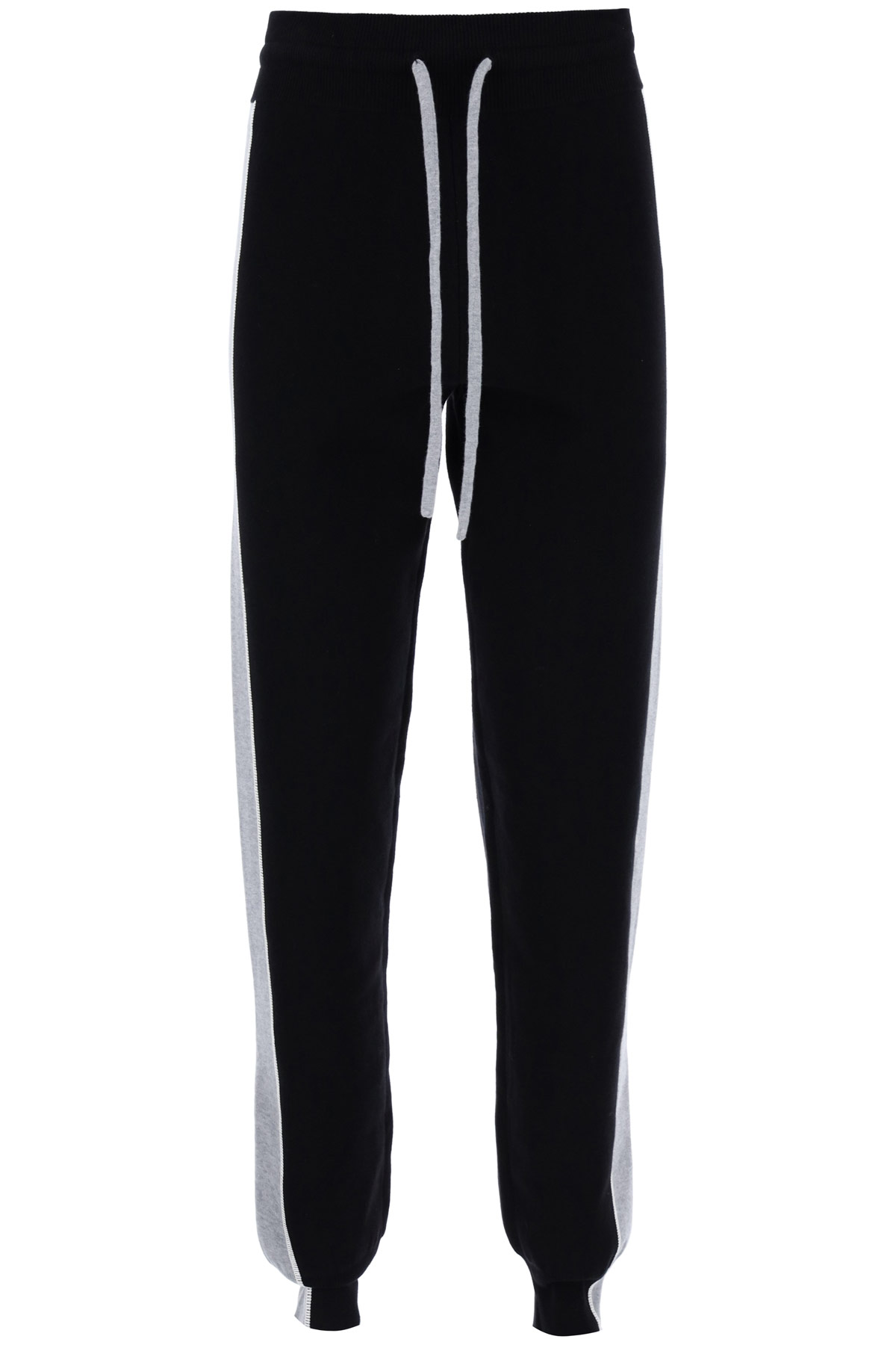 SEE BY CHLOE JOGGER PANTS M Black, Grey Cotton