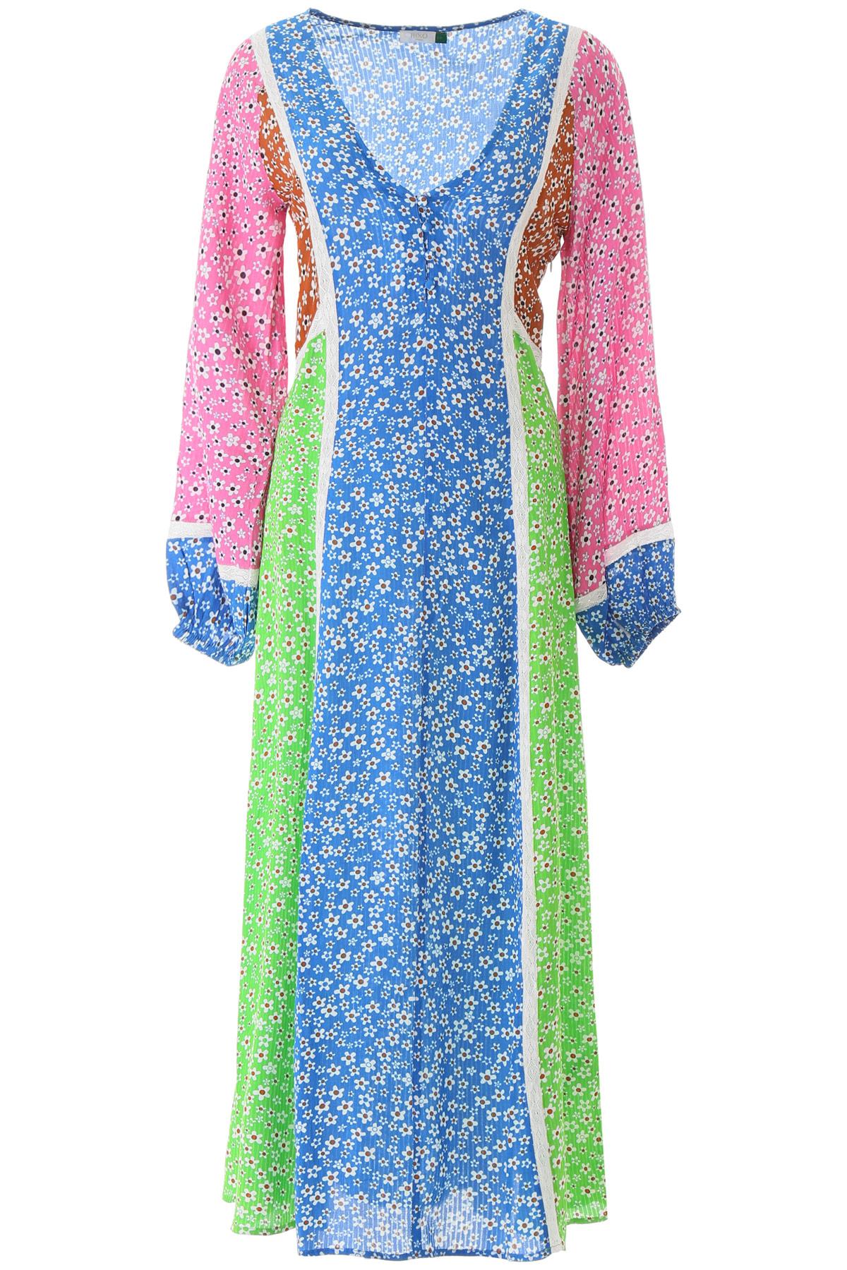 RIXO LONDON NIKKI FLORAL DRESS M Blue, Green, Pink