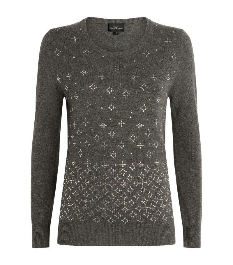 William Sharp Cashmere Crystal-Embellished Sweater