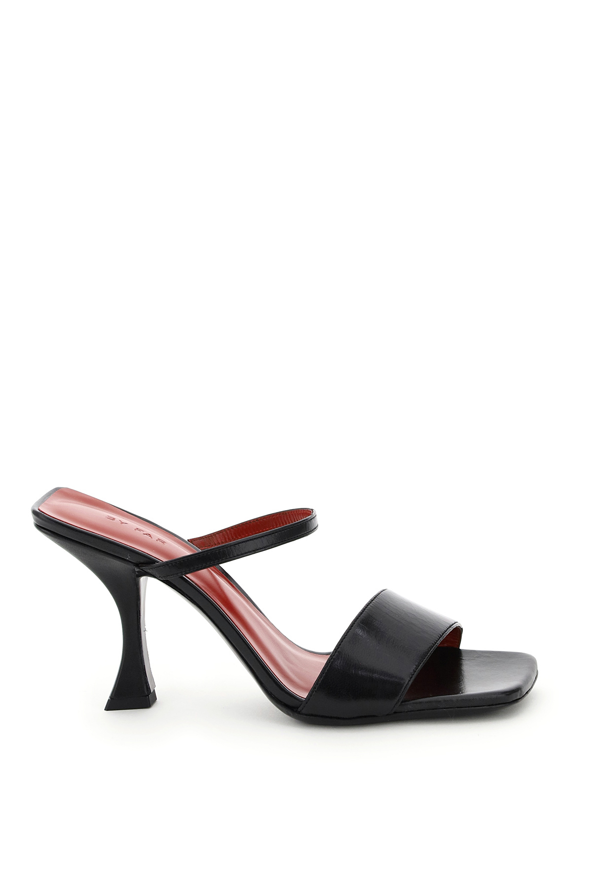 BY FAR NAYLA SANDALS 38 Black Leather