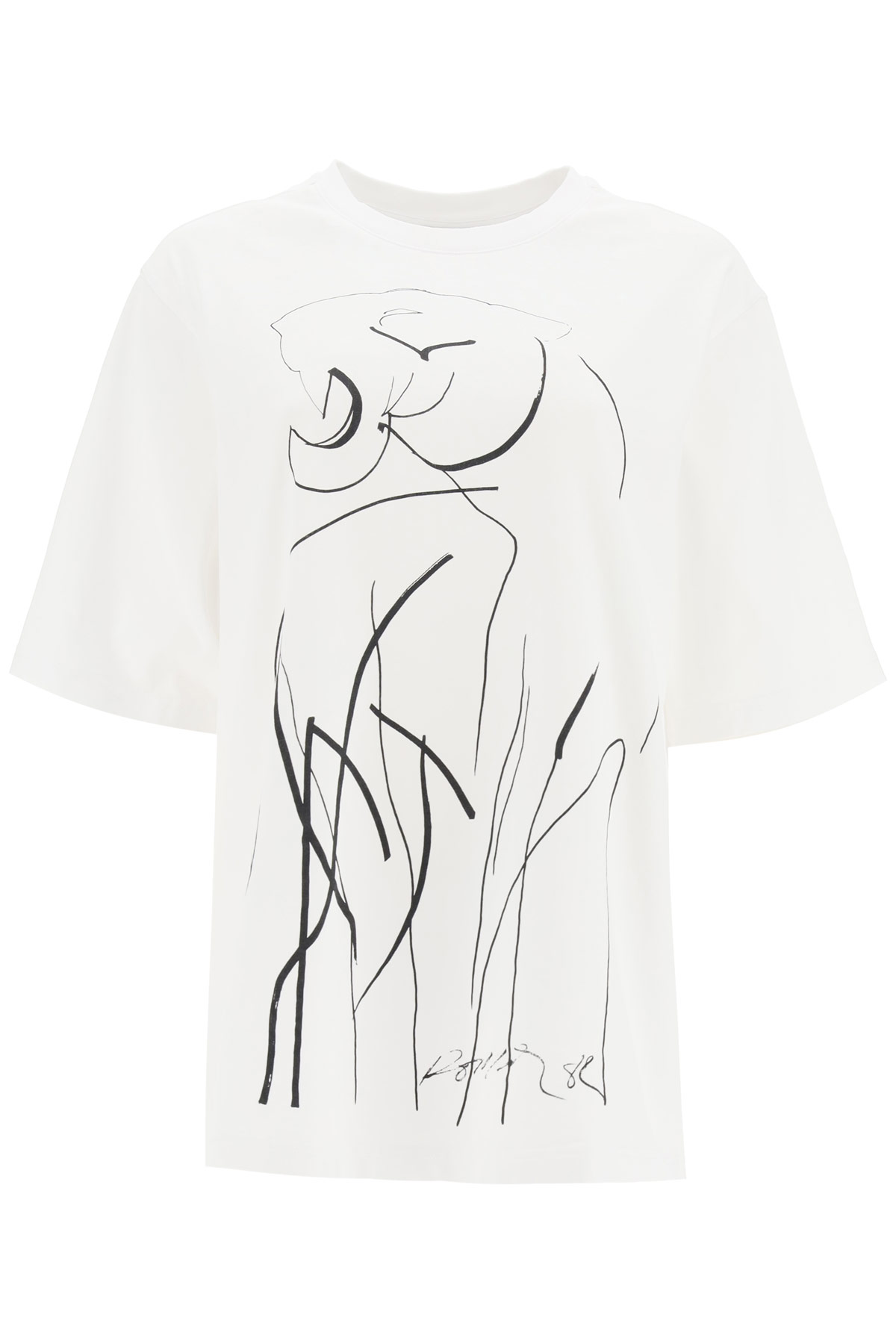 KENZO TIGER OVERSIZED T-SHIRT S White, Black Cotton